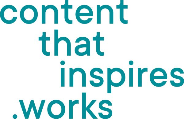 logo content that inspires .works; verena huber, network and partners Ruby Compliance, about